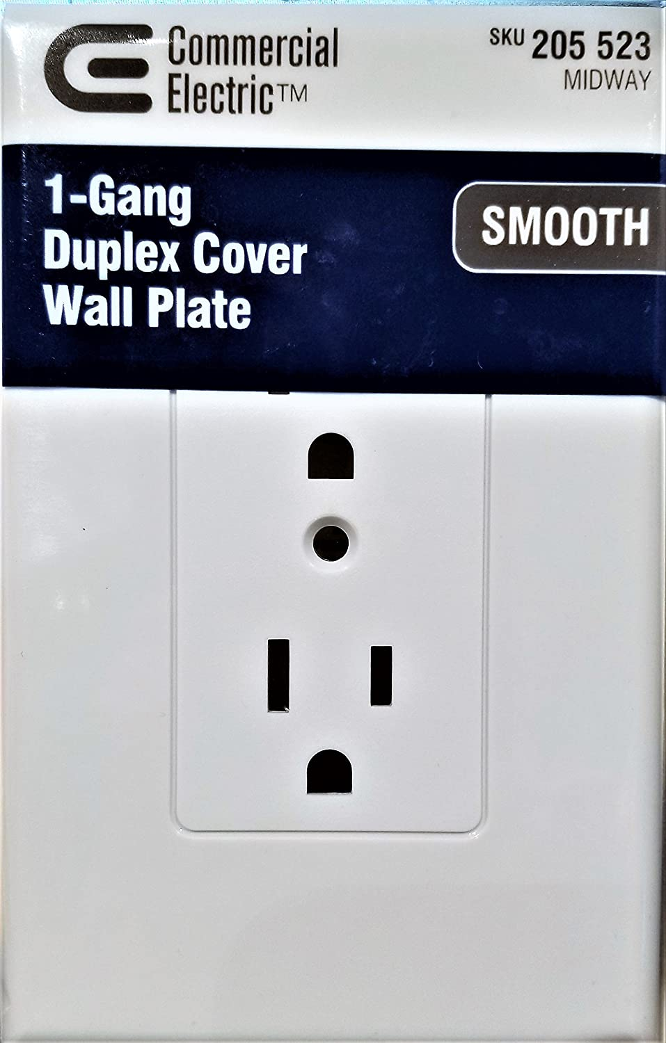 1 Gang Duplex Cover Wall Plate 205523 Smooth
