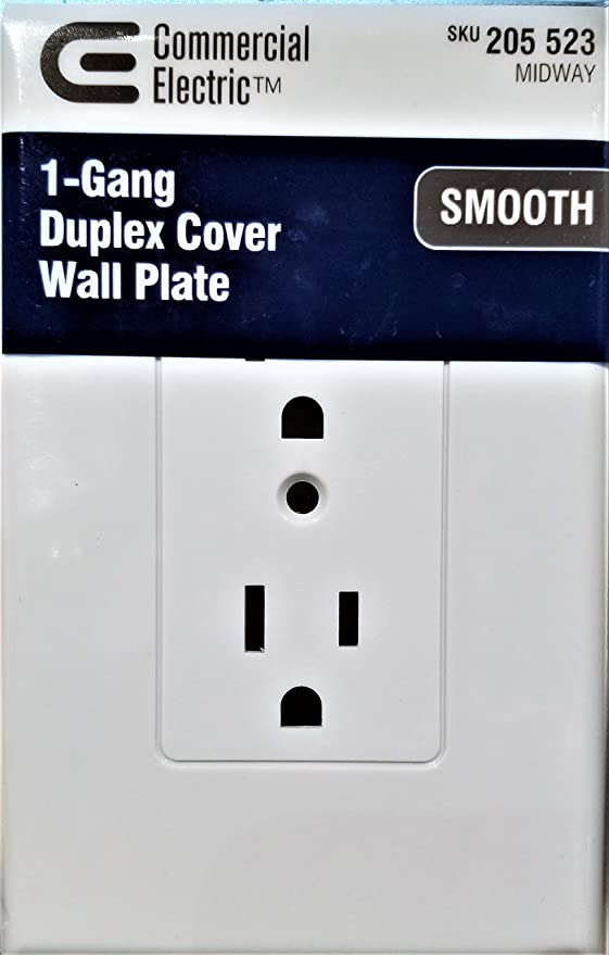 1 Gang Duplex Cover Wall Plate 205523 Smooth Amazon Com