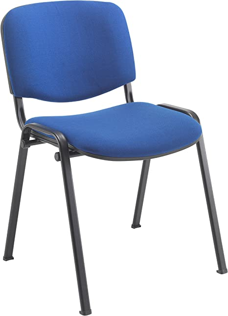 Office Hippo Heavy Duty Stackable Reception Chair Black Frame Fabric Royal Blue Amazon Co Uk Kitchen Home