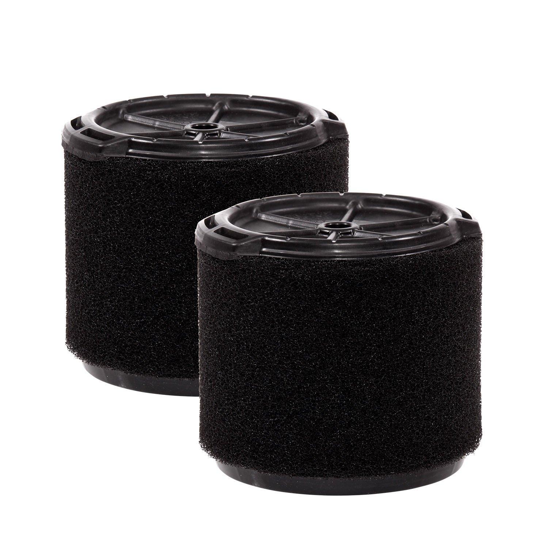 WORKSHOP Wet Vac Filters WS14045F2 Foam Filter For Wet Dry Vacuum Cleaner (2 Pack Wet Application Foam Filters) For WORKSHOP 3-Gallon To 4-1/2-Gallon Shop Vacuum Cleaners by WORKSHOP Wet/Dry Vacs