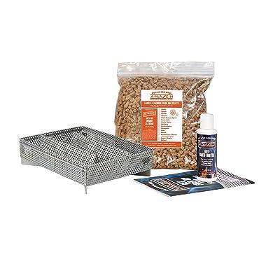 A-MAZE-N Pellet Smoker 5x8 Maze with 2 lbs Pitmasters Choice Pellets, Gel Fire Starter & Recipe Guide : Garden & Outdoor