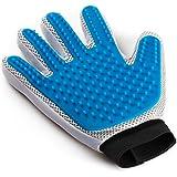 Pet Grooming Glove - Enhanced Five Finger Design - for Cats, Dogs and Horses - Long & Short Fur - Gentle De-Shedding…
