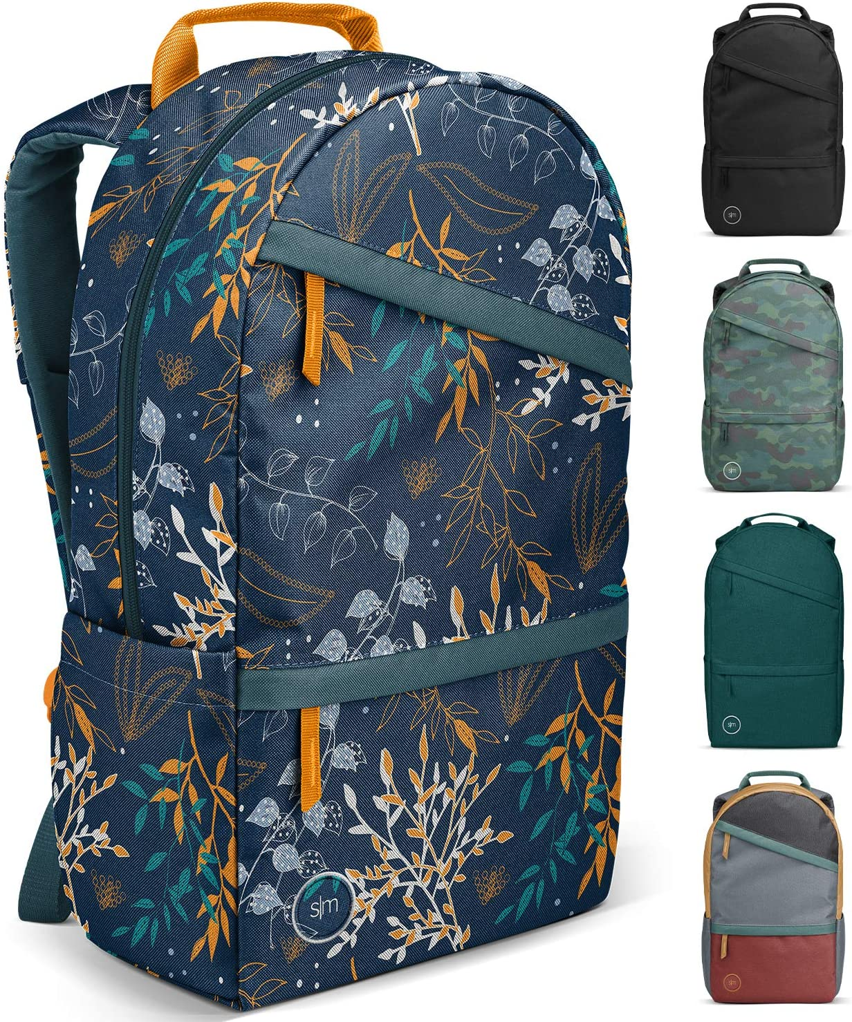 Simple Modern Legacy Backpack with Laptop Compartment, Urbannia Florals, 25 Liter