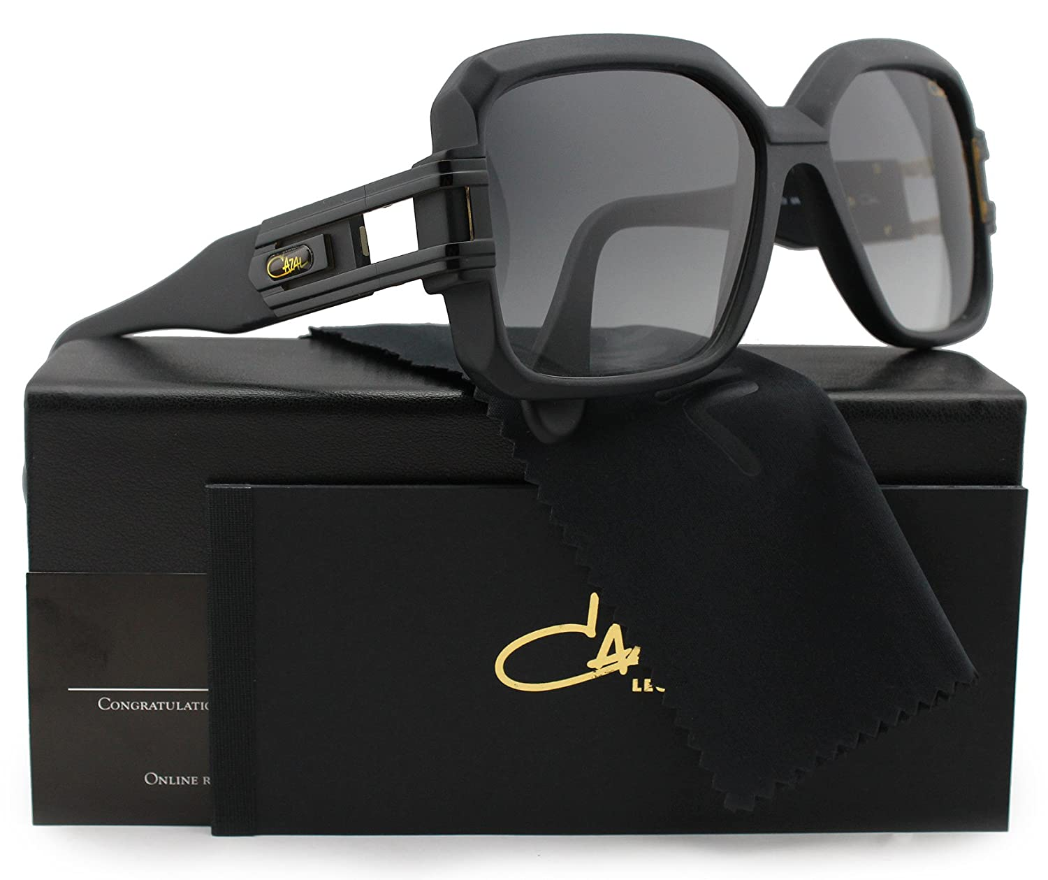 cd8f4544803 Cazal 623 301 Sunglasses Matte Black w Grey Gradient (011) 57mm Authentic   Amazon.ca  Clothing   Accessories