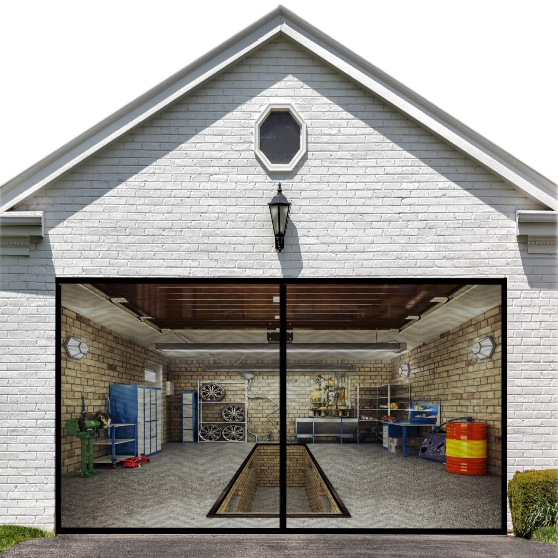 Magnetic Garage Screen Door for Single Garage Doors 8x7FT- Reinforced Fiberglass Door Screen Curtain for Garage Door,Hands Free Magnetic Screen Door: Amazon.in: Home Improvement