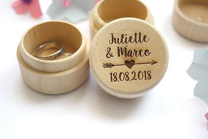 Decorazioni Matrimonio Bohemien : Scatola porta fedi matrimonio scatola personalizzata con nomi e