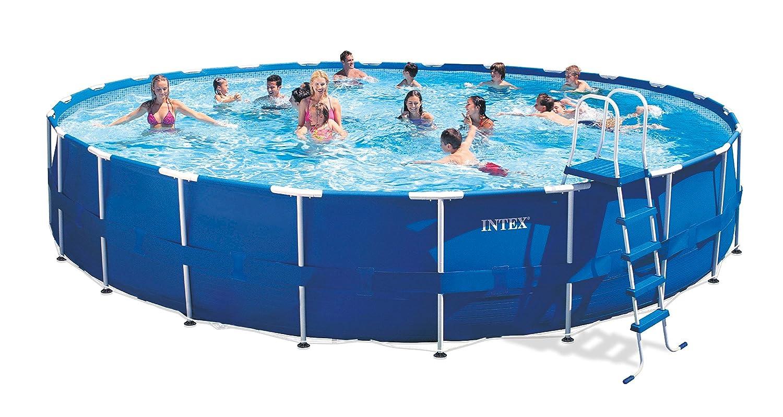 Amazon.com: Intex Metal Frame Pool Set, 24-Feet by 52-Inch (Older ...