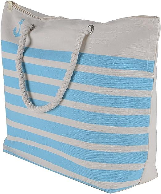 Green White Grey Turquoise Black Water Resistant Oly Fun Beach Market Tote Bag