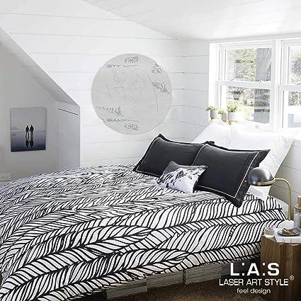 L:A:S Laser Art Style Quadro Capezzale Sacra Famiglia Moderno per Camera da  Letto, Legno, Argento, ⌀ ⌀ 60 cm