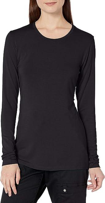 BLTR Women Crop Top Casual Long Sleeve Round Neck Sweatshirt