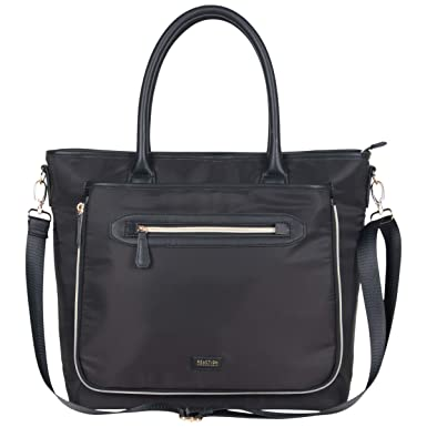 ef4ffefb41 Kenneth Cole Reaction Women s Silky Polyester Top Zip 15 quot  (RFID)  Laptop Tote Black