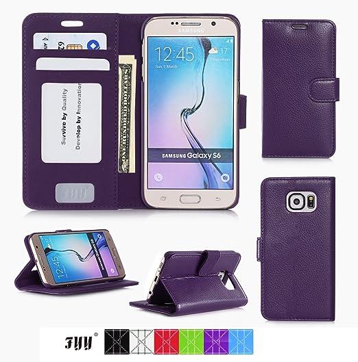 187 opinioni per Cover Galaxy S6, Custodia Galaxy S6, Fyy® Custodia a Portafoglio con Taschini