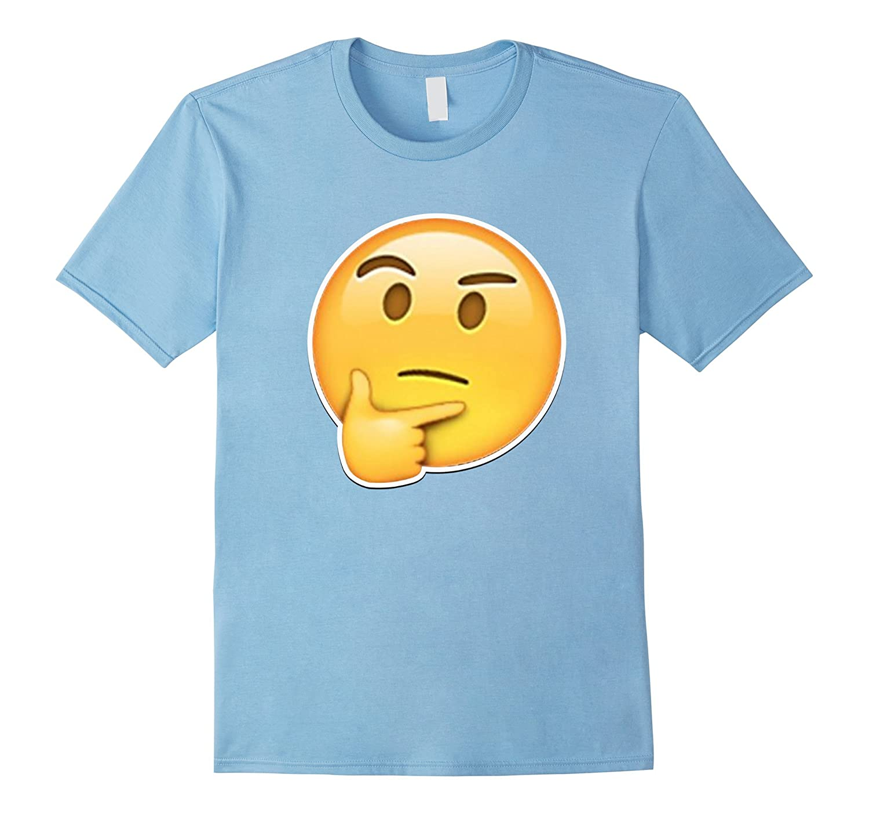 Skeptical Thinking Eyebrow Raised Emoji Happy T Shirt Bn Banazatee