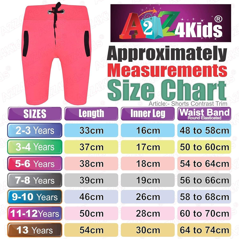 A2Z 4 Kids/® Kids Shorts Girls Boys Fleece Chino Shorts Casual Knee Length Half Pant New Age 2 3 4 5 6 7 8 9 10 11 12 13 Years