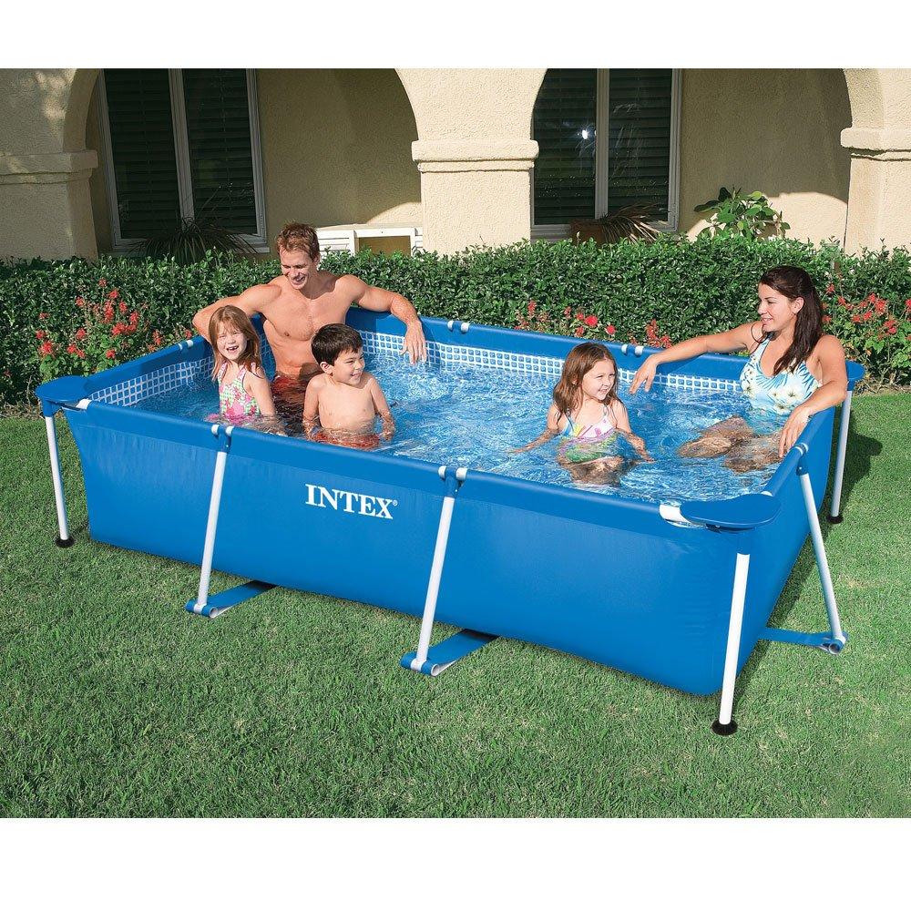 INTEX Familienpool 220x150x60 cm, blau, sehr stabil, schneller Auf ...