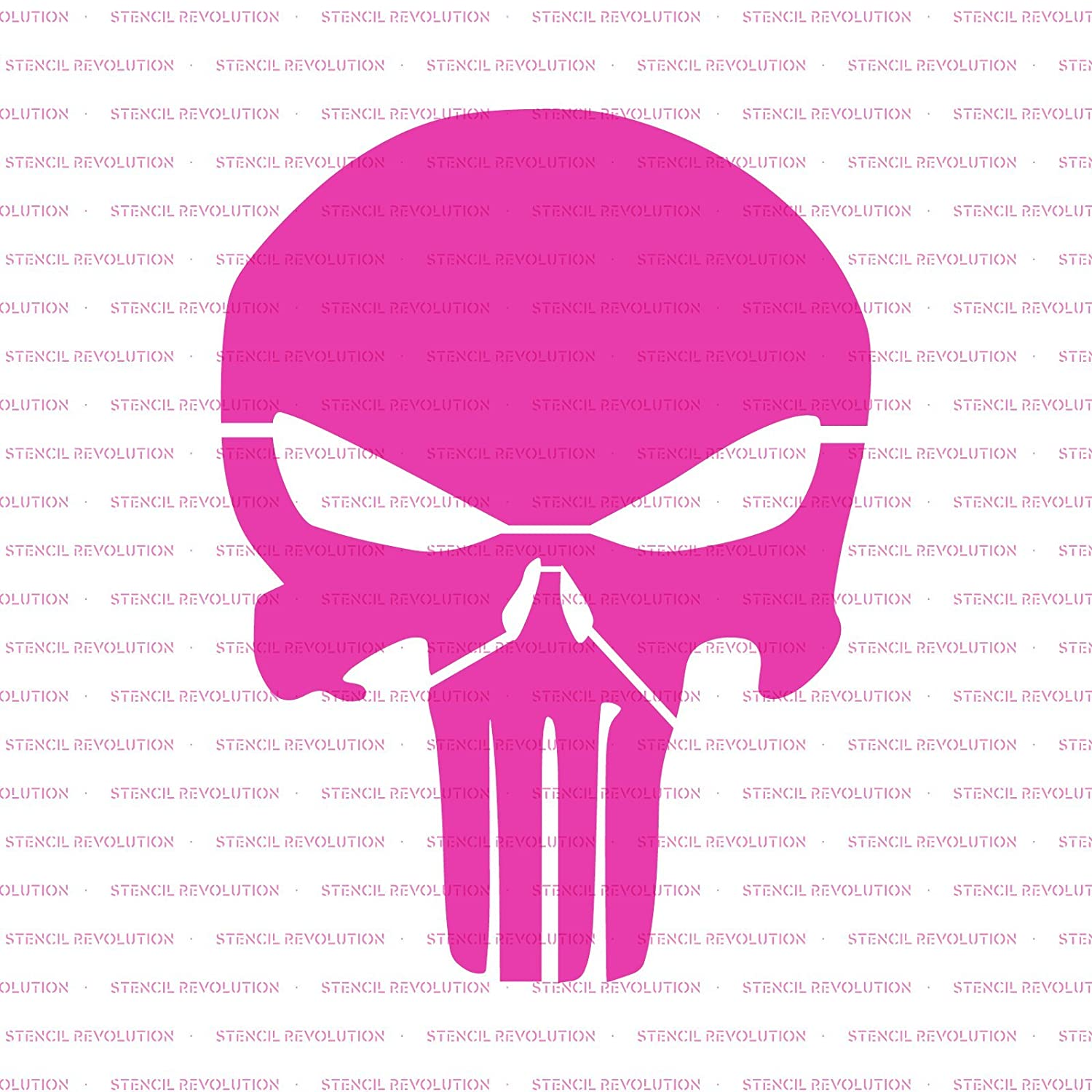 amazoncom punisher skull stencil template reusable stencil with multiple sizes available