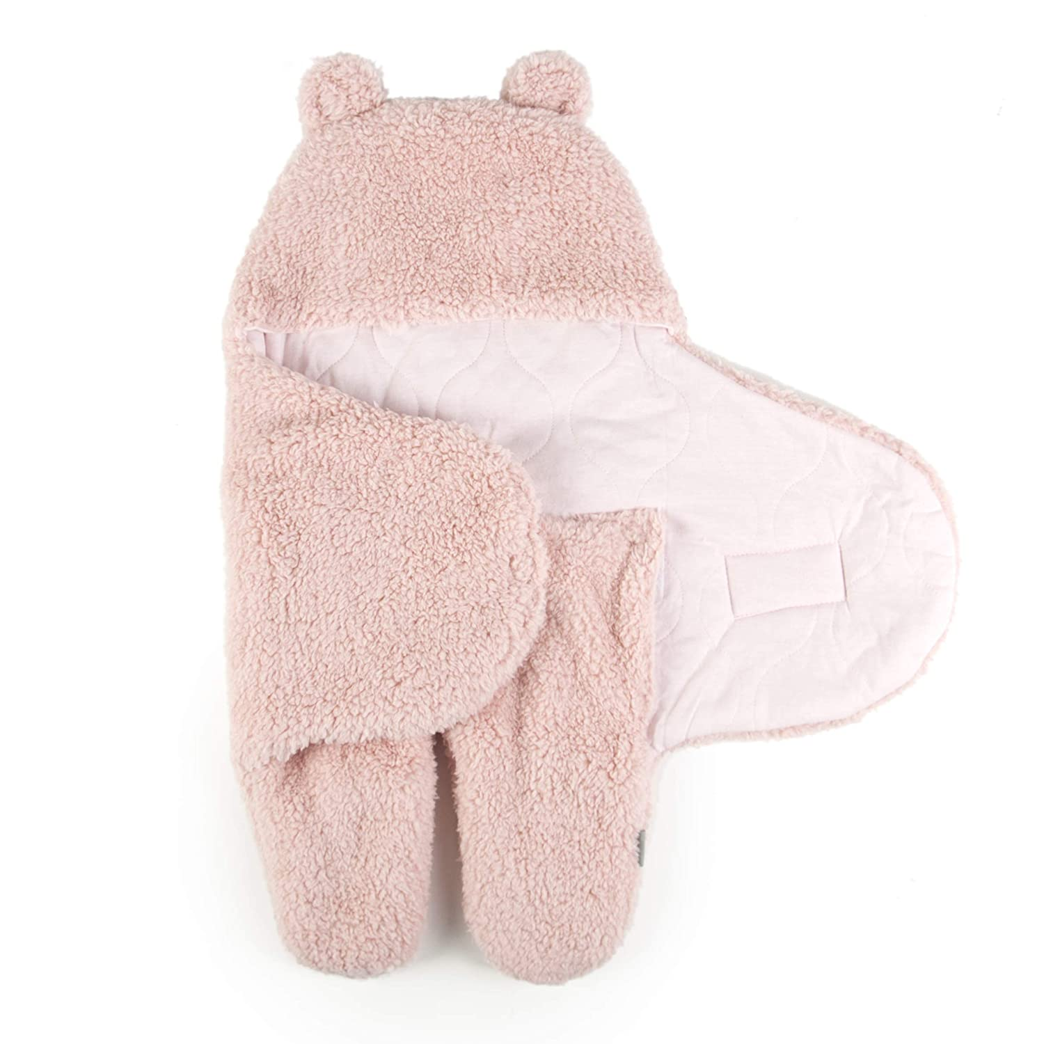 Tadpoles Super Soft Plush Sherpa Swaddle Wrap, Blush