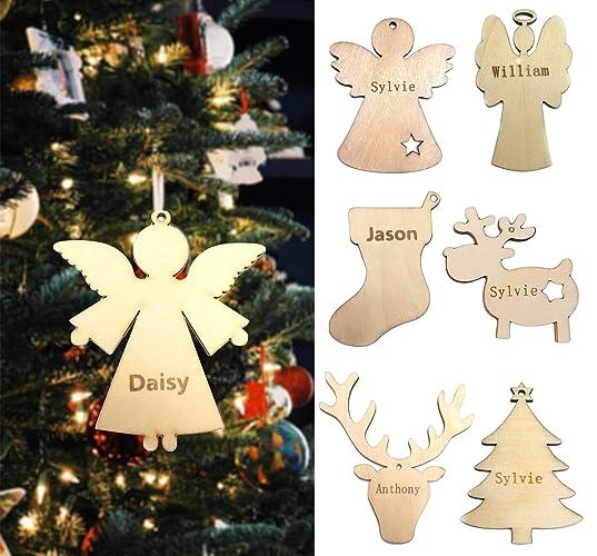 Amazon Com Custom Name Rustic Christmas Tree Wood Hanging