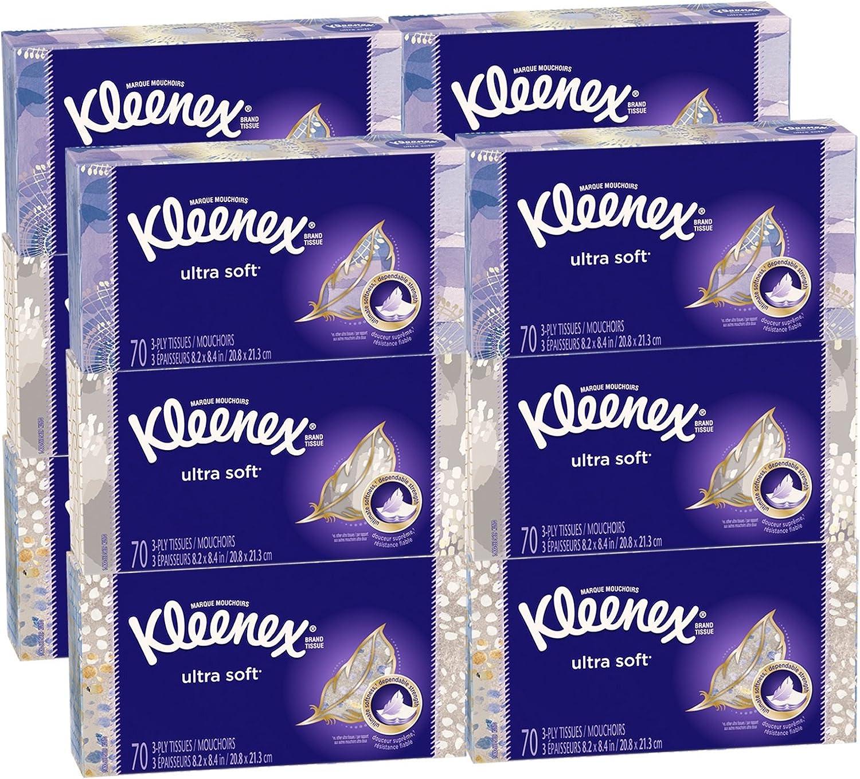 Kleenex Ultra Soft /& Original Facial Tissue Boxes Pack of 12