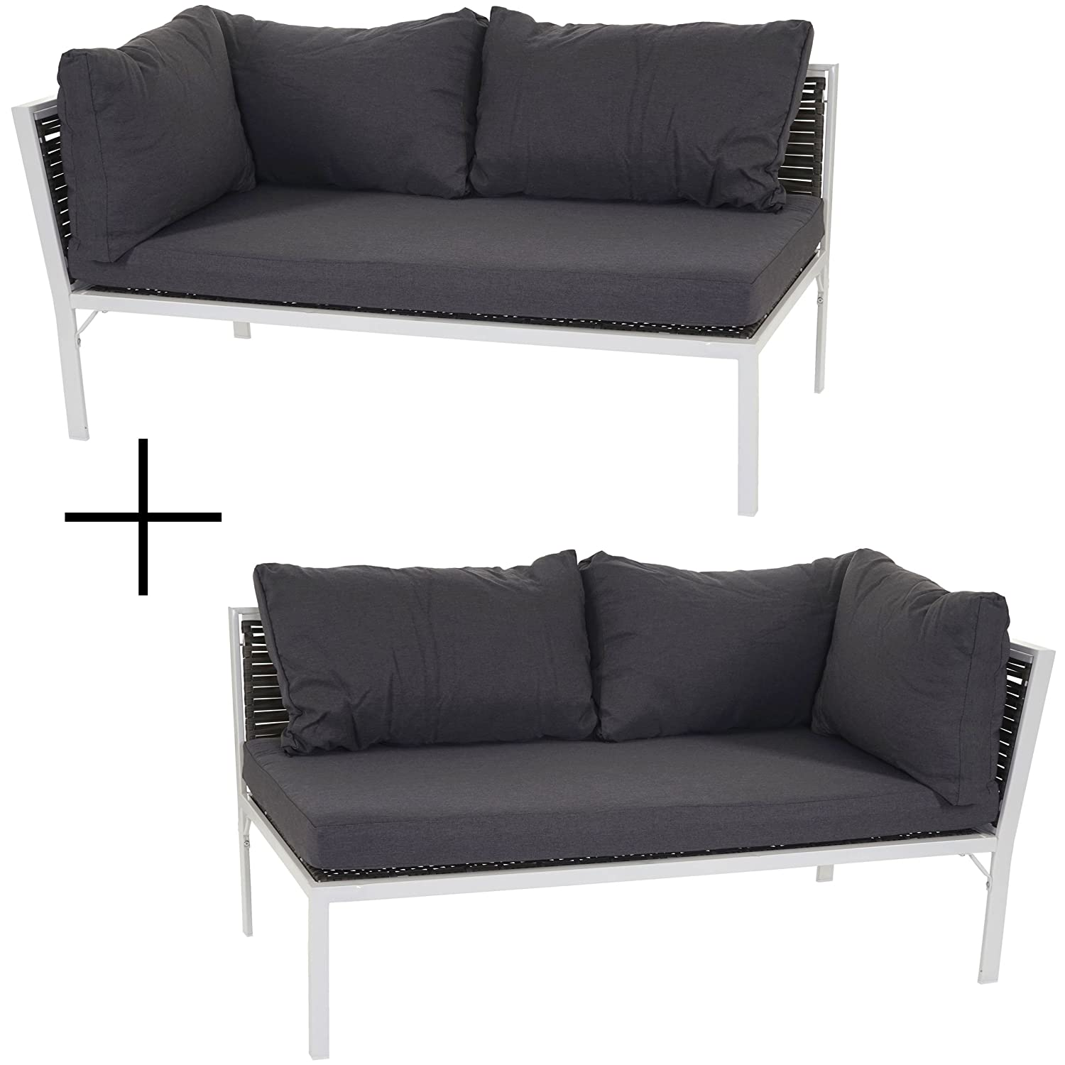 poly rattan sofa delphi loungesofa couch alu kissen anthrazit g nstig. Black Bedroom Furniture Sets. Home Design Ideas