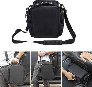 for JK JL Under Seat Storage Pouch Bag, Backseat Organizer Bag for Jeep Wrangler JK JKU JL JLU Sports Sahara Freedom Rubicon X & Unlimited 2007-2020