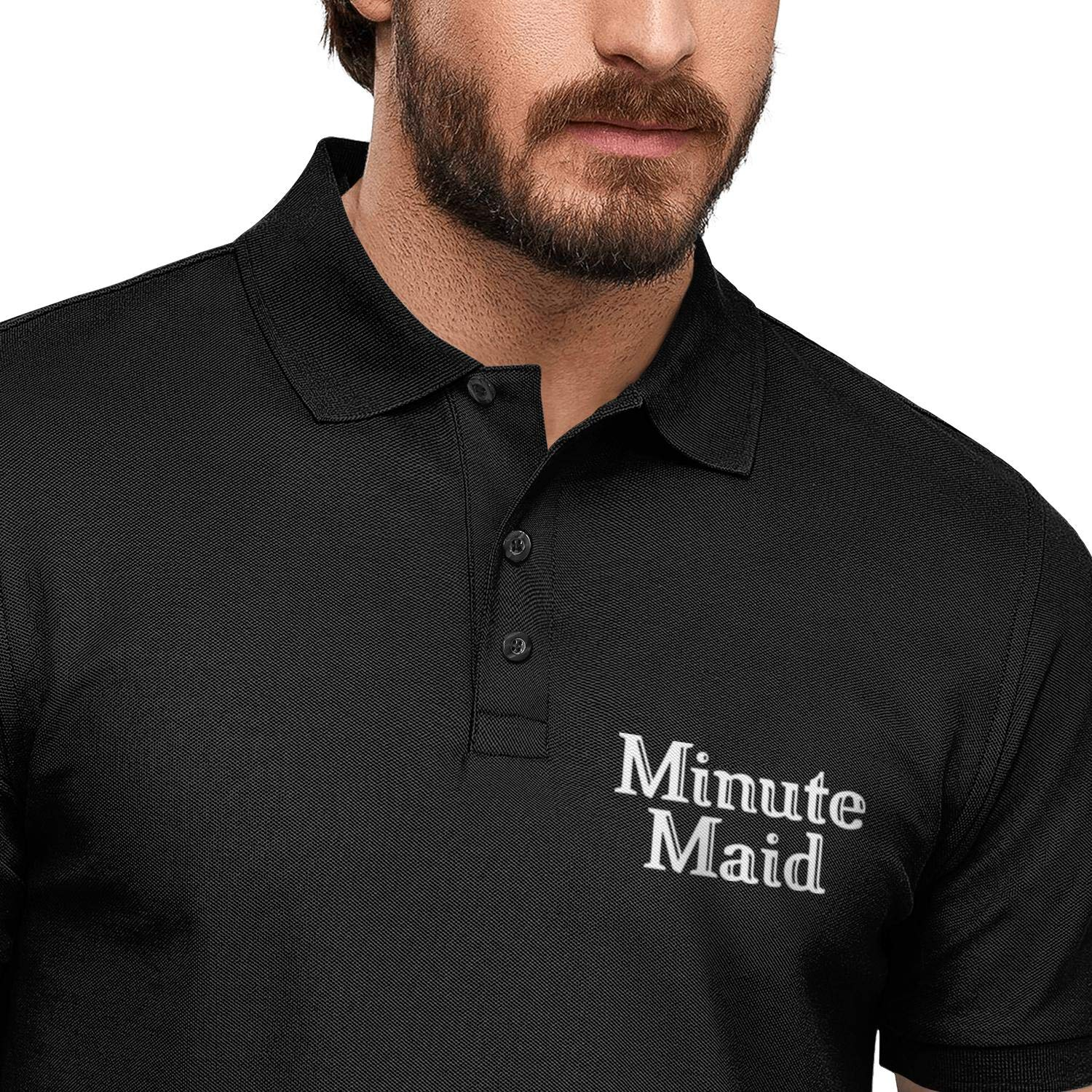 XAAI Mens Quick-Dry Pique Polo T Shirt Fitness Minute Maid Orange Juice Adjustable Athletic Short-Sleeves