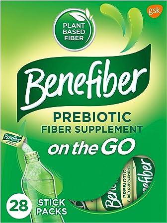 Benefiber On the Go Prebiotic Fiber Supplement Powder for Digestive Health, Daily Fiber Powder, Unflavored Powder Stick Packs - 28 Sticks (3.92 Ounces)