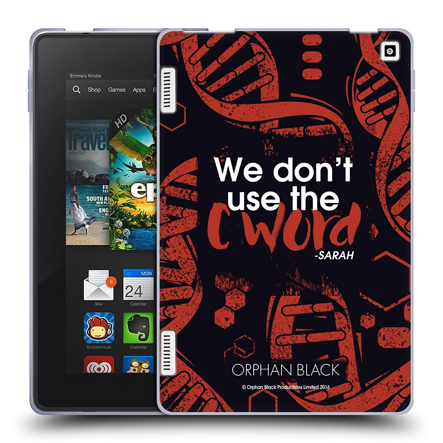 Amazon.com: Official Orphan Black C Word Sestras Soft Gel Case for Amazon Fire HD 7: Cell Phones & Accessories