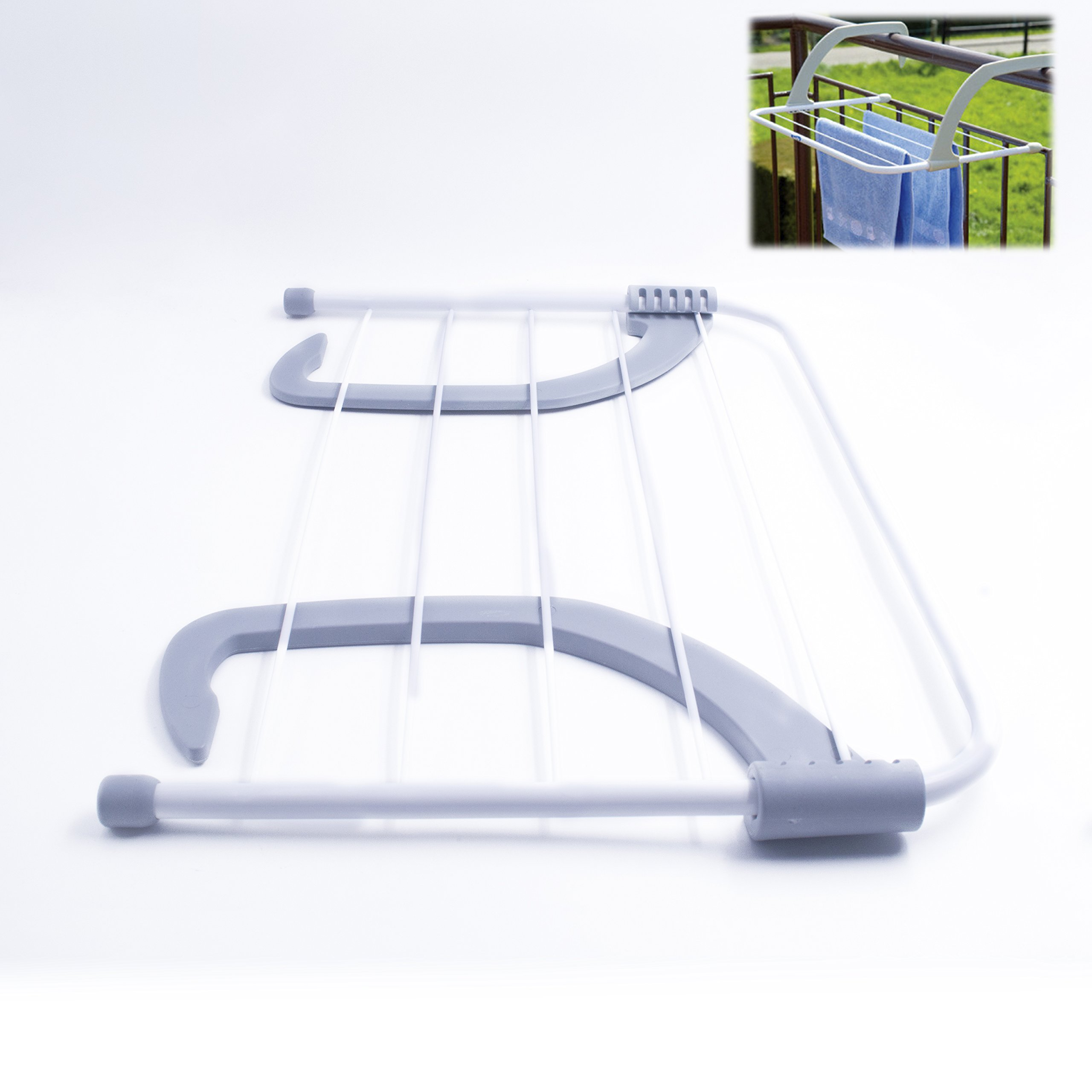 Anzirose Radiator Airer Rack Clothes Airer Towel Hanging Drying Rack over Balcony Window or Bathroom