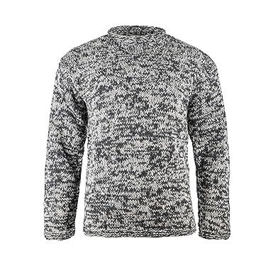 prezzo competitivo fa72e 943d9 Maglia girocollo in lana Yak, lana Yak 100% tibetana, Maglione a Collo alto  Spesso e Caldo