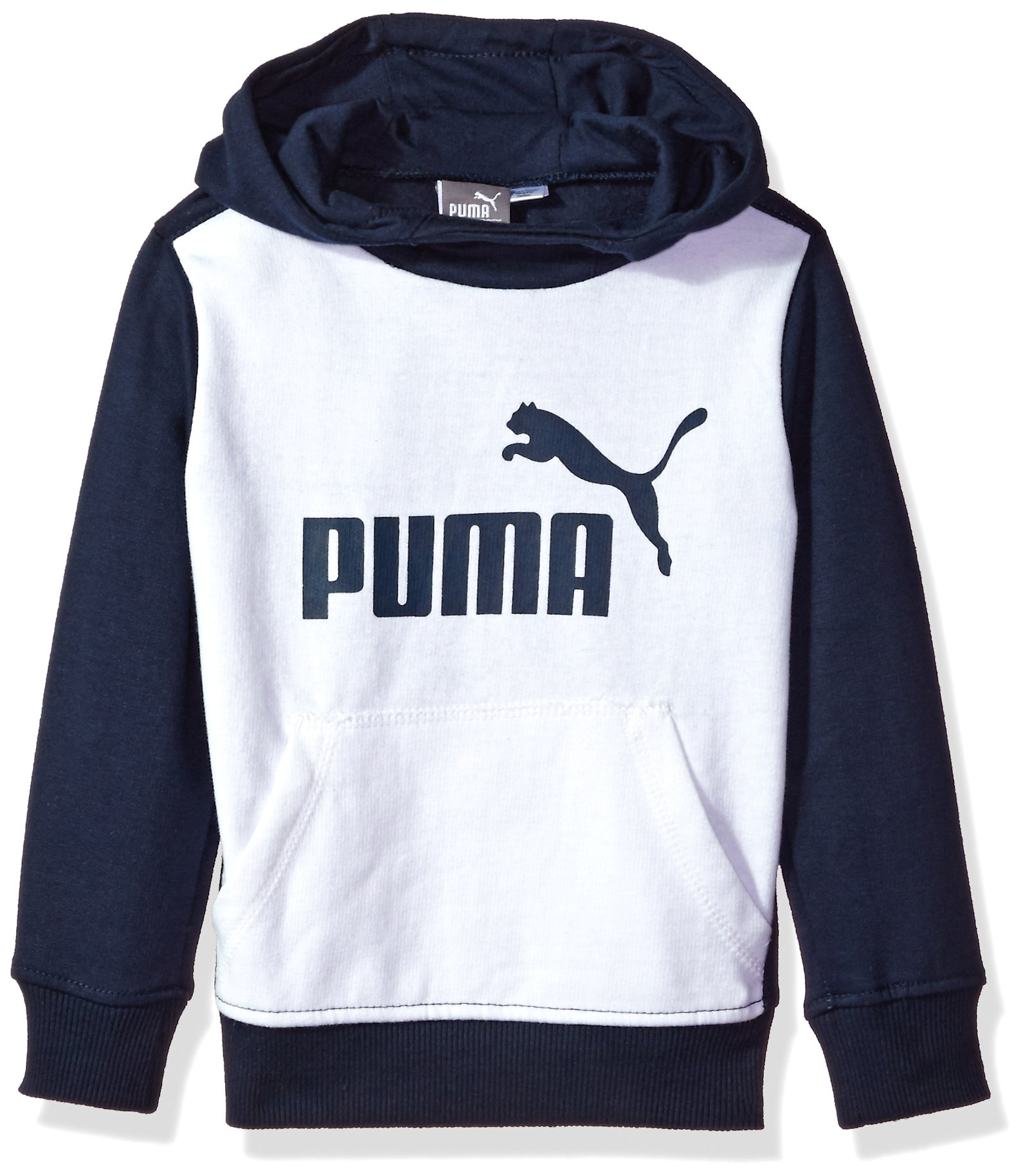 PUMA Toddler Boys' Pullover Hoodie, White, 4T