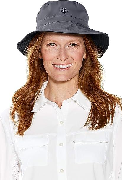 7836727033e48d Coolibar UPF 50+ Men's Reversible Bucket Hat - Sun Protective,Small/Medium,