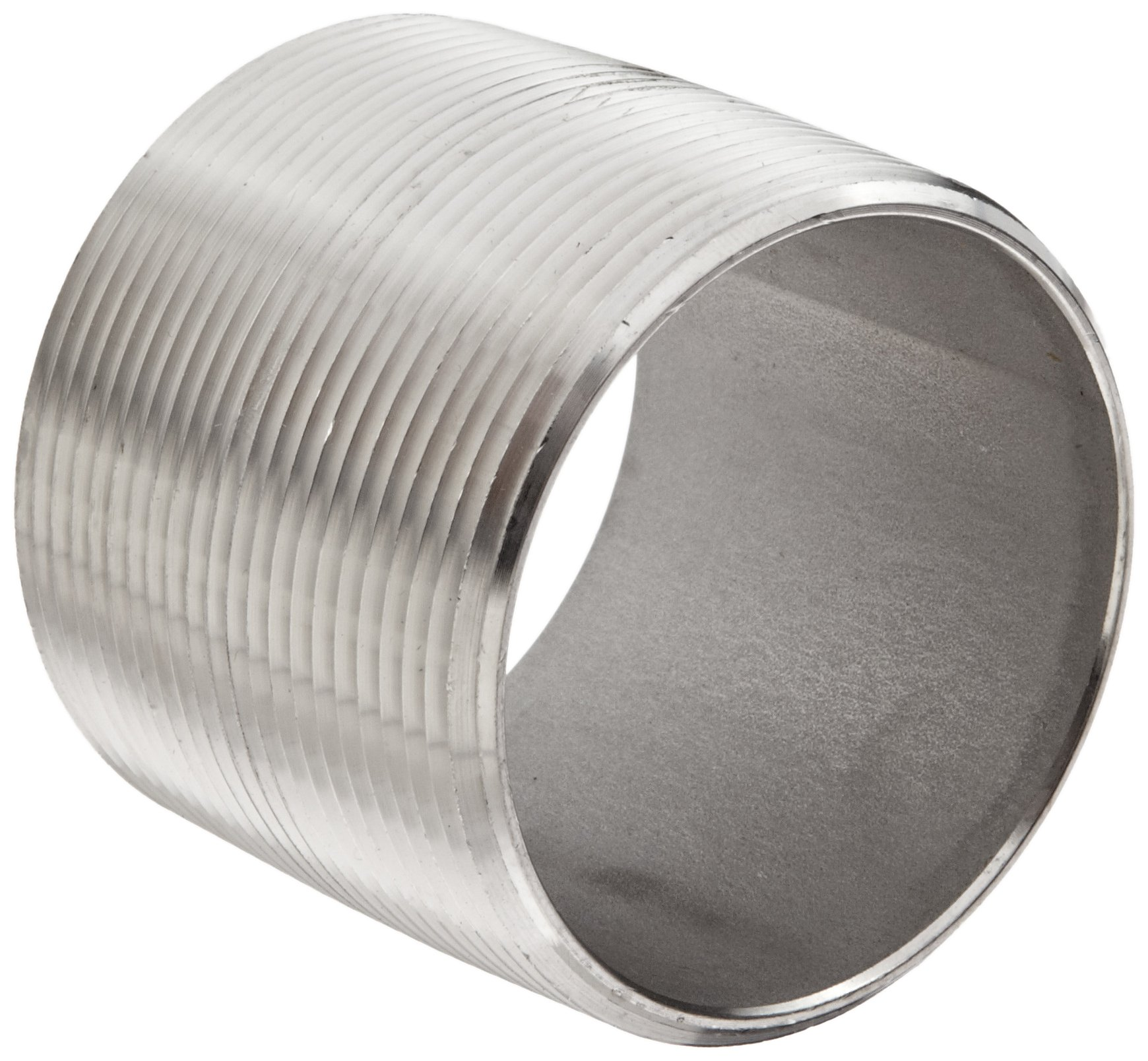 Dixon CN200SS Stainless Steel 316 Pipe and Welding Fitting, Close Nipple, 2'' NPT Male, 2'' Length