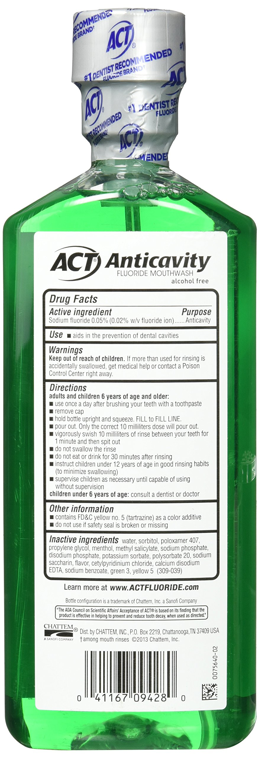 ACT Alcohol Free Anticavity Fluoride Rinse, Mint - 18 oz - 2 pk by ACT (Image #5)