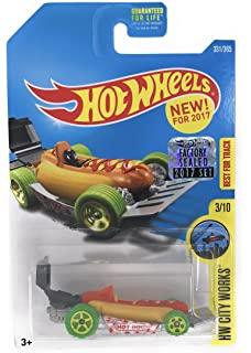 Hot Wheels 2017 HW City Works Street Wiener (Hot Dog Car) 331/365