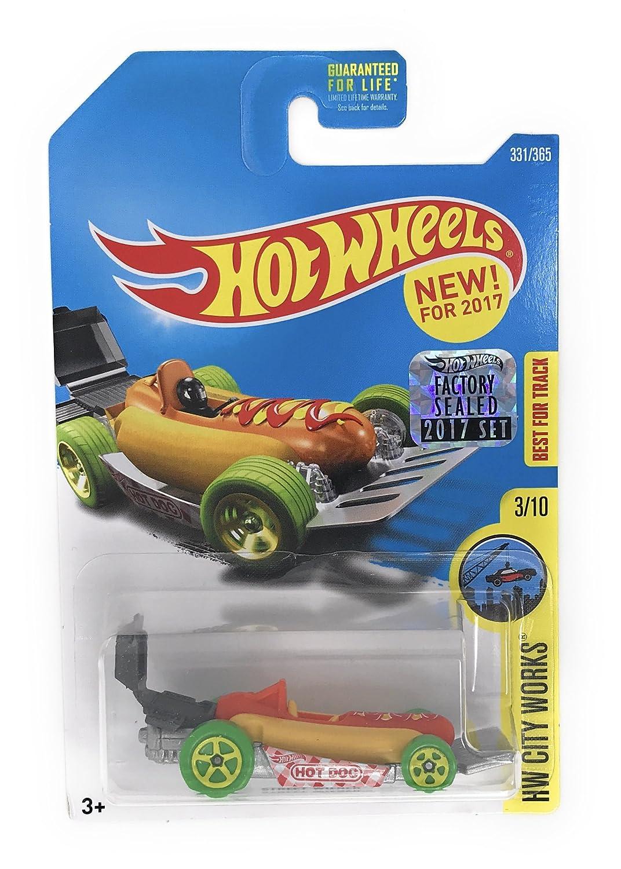Hot Wheels 2017 HW City Works Street Wiener Hot Dog Car 331 365