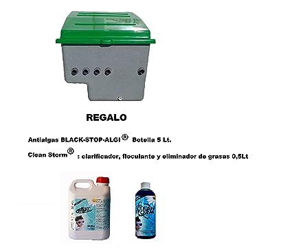 Caseta para piscinas semienterrada (Piscina 4x8 ó 50 m3) + Filtro D.500