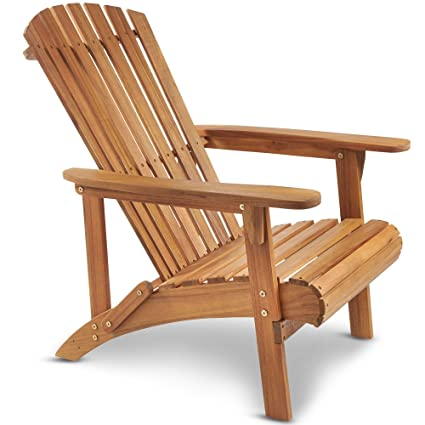 Remarkable Vonhaus Adirondack Chair Outdoor Garden Furniture Made From Acacia Hardwood With Oiled Finish Camellatalisay Diy Chair Ideas Camellatalisaycom