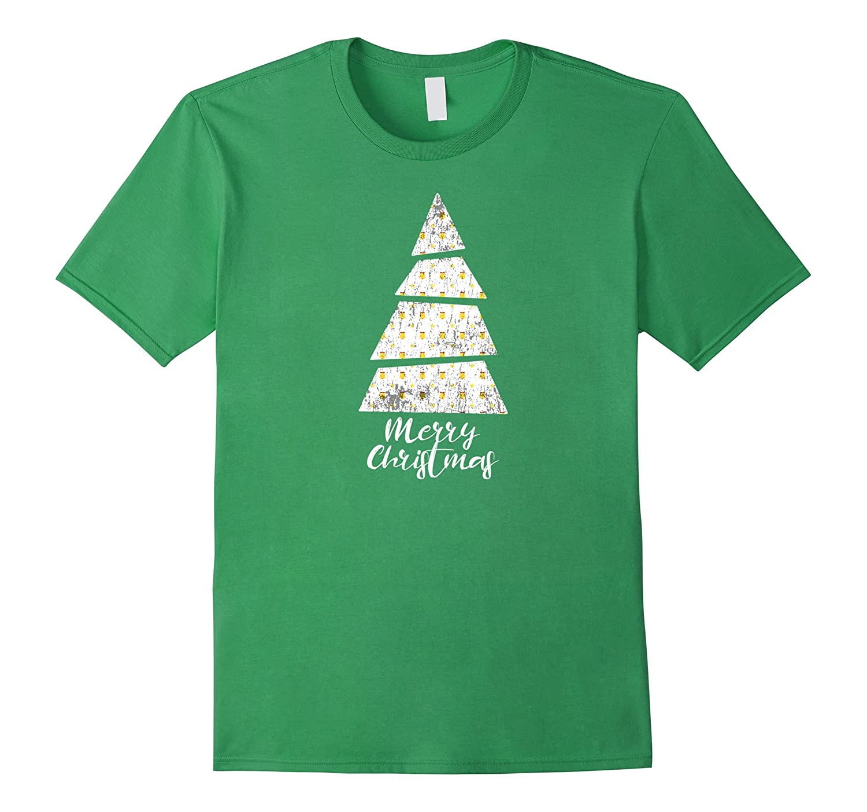 Novelty Christmas Bells T-shirt – Christmas Tree Shape