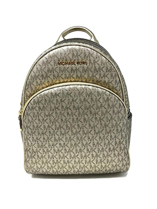 d7e46187b13867 Amazon.com: MICHAEL Michael Kors Abbey MD Backpack bundled Michael Kors  Logo Jet Set Travel Double Zip Wristlet Wallet Pale Gold Metallic: Shoes