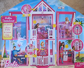 Barbie Malibu Dreamhouse Playset Dream House W 40 Pieces Elevator