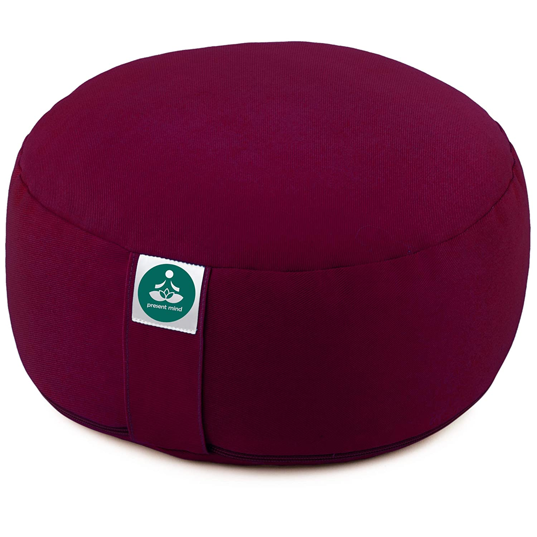 Present Mind Cuscino Meditazione Yoga Zafu,/Altezza 16 cm,/Rivestimento in Cotone Lavabile