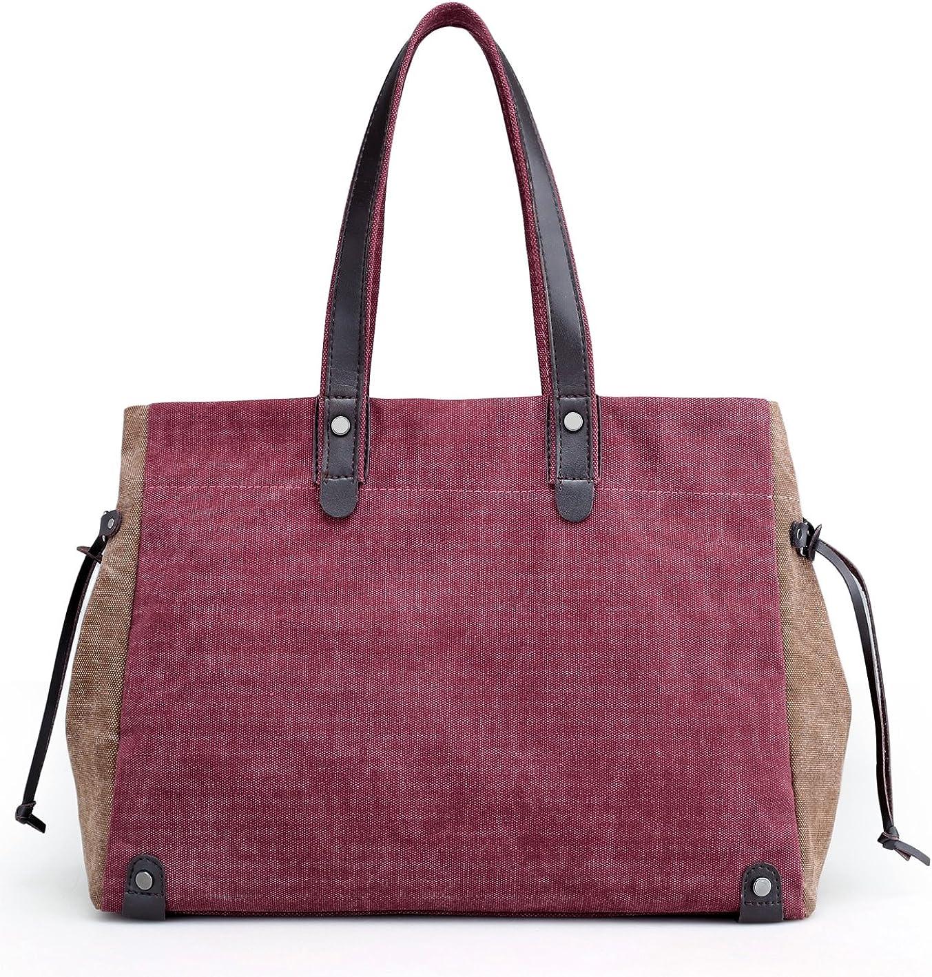 Women Handbag Shoulder Bags Top Handle Beach Tote Purse Crossbody Bag Wine Red