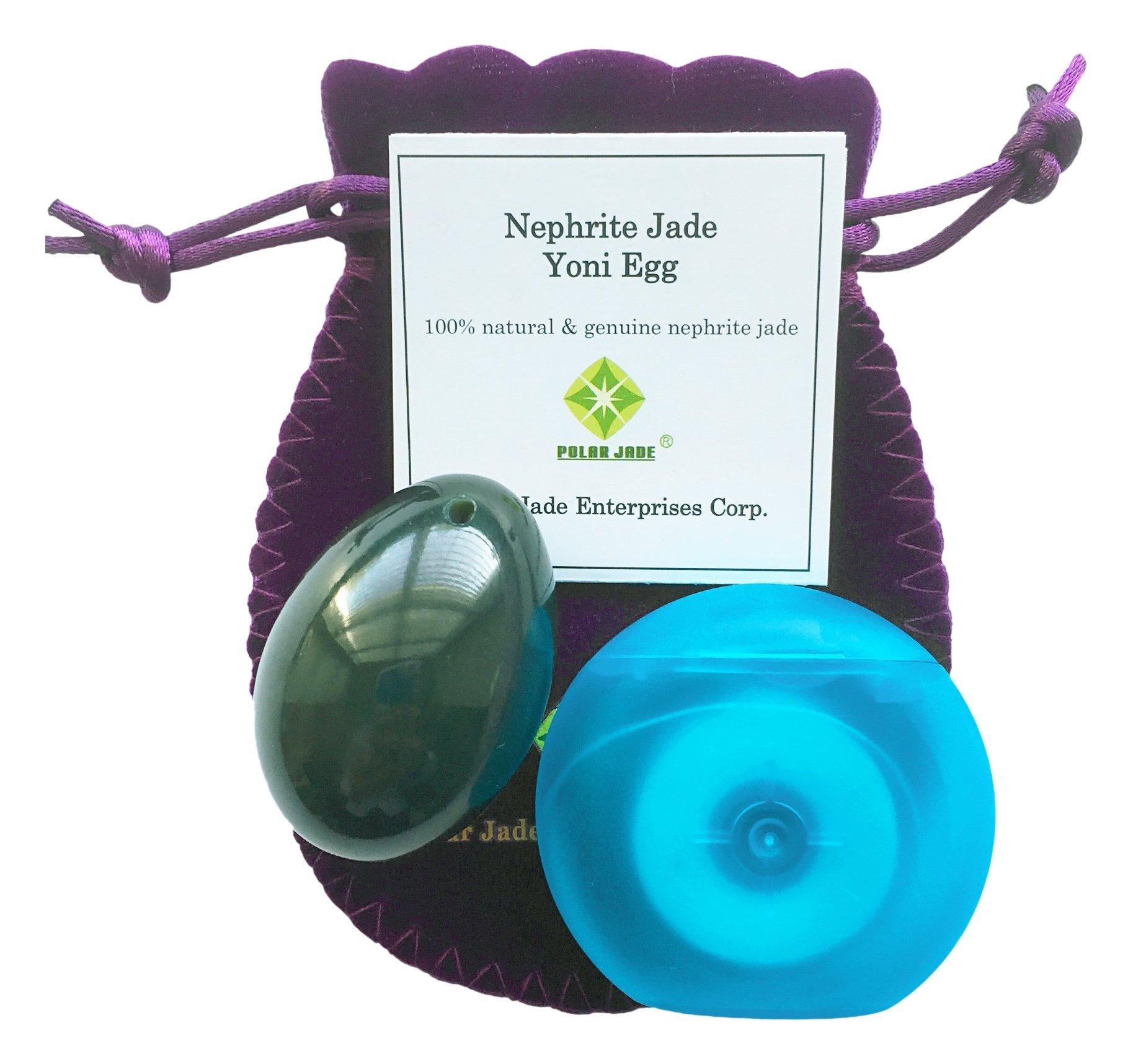 Amazon.com: Yoni Egg (Kegel Jade Egg) Drilled, Made of Black ...