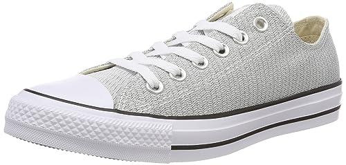 Converse Ctas Ox, Sneaker Unisex-Adulto, Grigio (White/Black/White 113), 42 EU