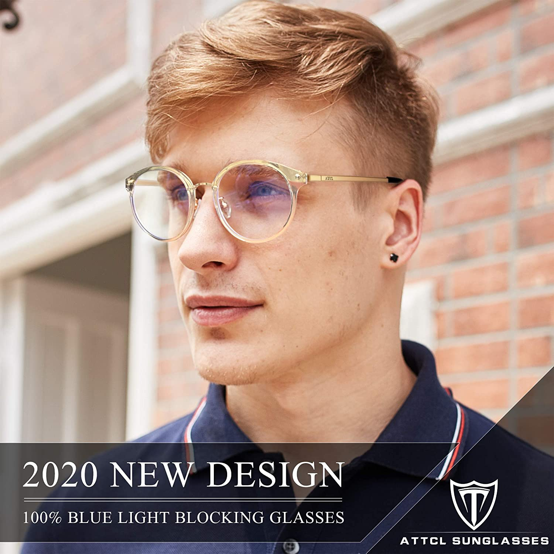 Anti Eyestrain Occhiali Uomo Donna leggero ATTCL Occhiali luce blu bloccanti per il blocco della cefalea UV