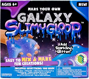 Slimygloop Make Your Own Galaxy DIY Slime Kit by Horizon Group Usa, Mix & Create Stretchy, Squishy, Gooey, Putty, Purple Starry Slime- Galaxy