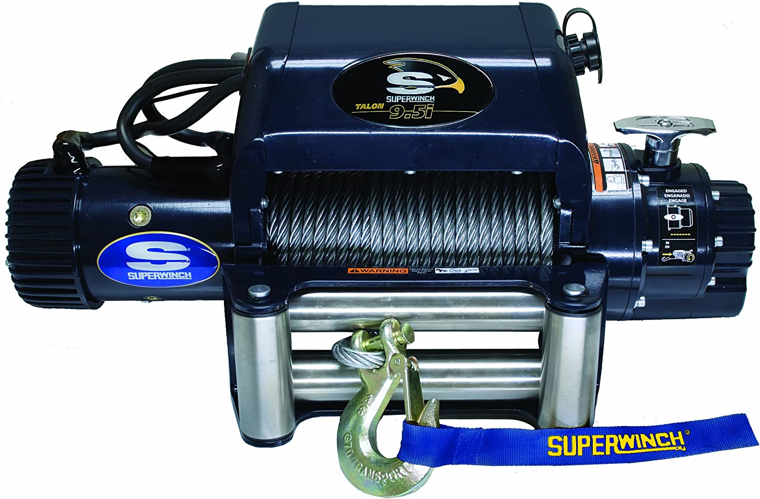 Superwinch 1695210 Talon 9.5i, 12 VDC winch, 9,500 lb/4,309 kg capacity with roller fairlead