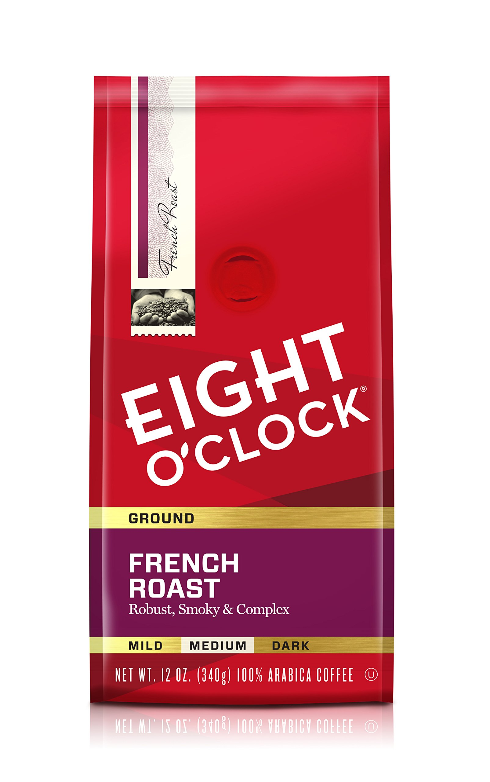 Eight O'Clock Ground Coffee, French Roast, 12 Ounce (Pack of 6) by Eight O'Clock Coffee