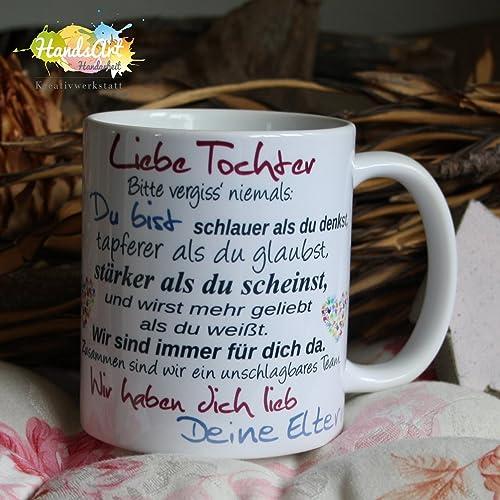 Eltern Geschenke Weihnachten.Kaffeebecher Tasse Liebe Tochter Deine Eltern Weihnachten Geschenk